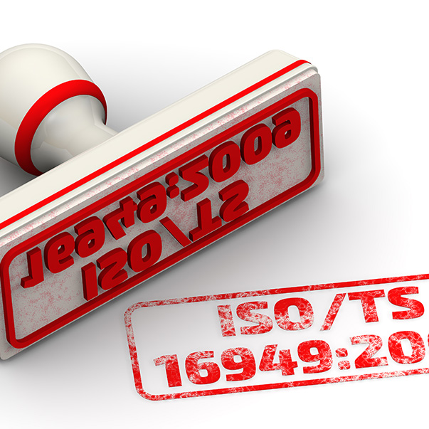 stamp for iso/ts 16949